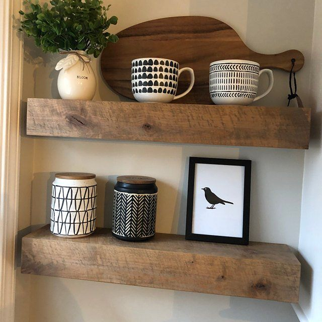 Diane Added A Photo Of Their Purchase Rustic Floating Shelves Floating Shelves Modern Rustic