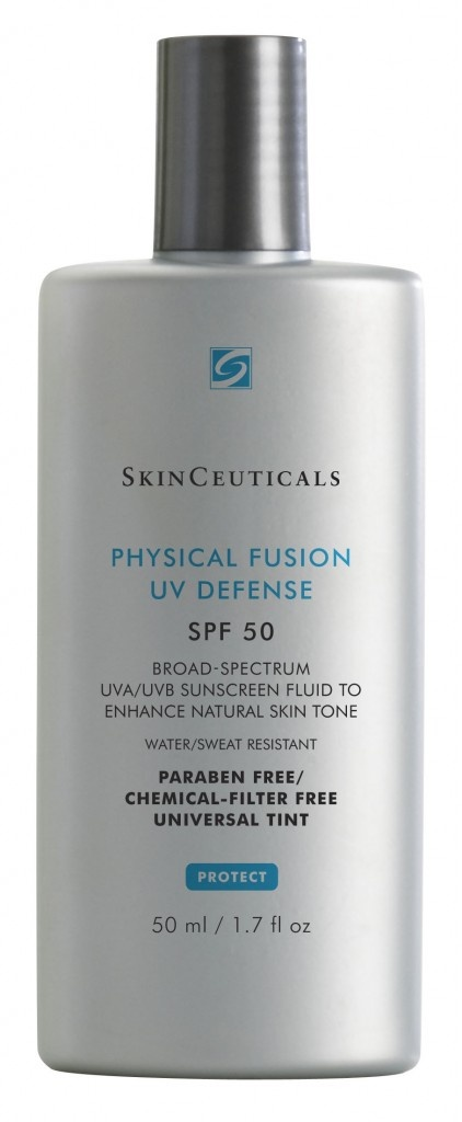 Physical Fusion UV Defense SPF 50    A groundbreaking, weightless sunscreen featuring color-infused sunscreen technology that provides a universal tint and boosts daily radiance. PHYSICAL FUSION UV DEFENSE SPF 50 offers the photoprotection of trusted broad-spectrum, physical filters, zinc oxide (Z-COTE®) and titanium dioxide, and is enhanced by artemia salina, a plankton extract, to increase the skin's defenses and resistance to UV and heat stress    Price: $30.00