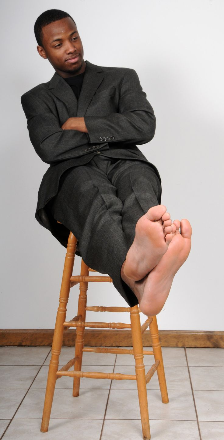Black male feet
