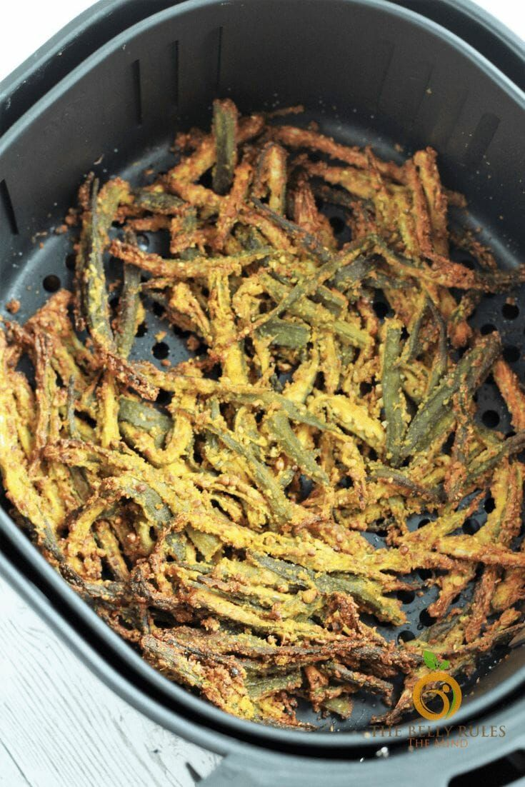 Kurkuri Bhindi / Vegan Fried Okra (Air Fried) Recipe