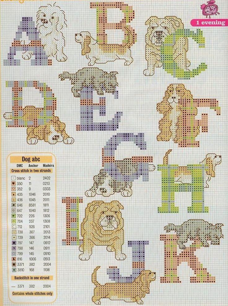Graficos punto de cruz gratis abecedarios infantiles 52 - Almazuelas patrones gratis ...
