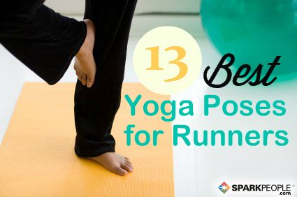 If you feel sore after a run, these #yoga poses are sure to help! #fitness