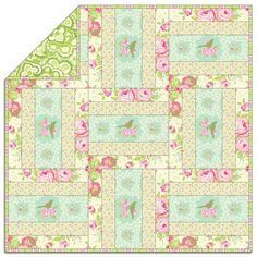 Heather Bailey's Garden District – Free Quilt Pattern + How to Quilt-As-You-Go…