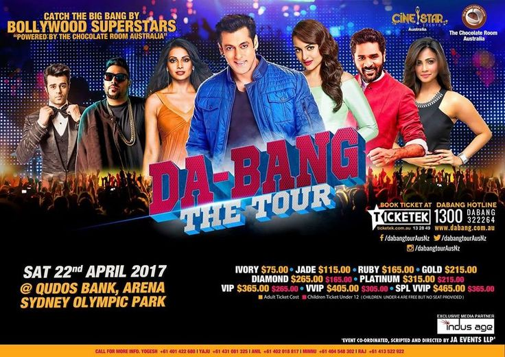 Indian Events in Australia - Organised by The Chocolate Room  Australia, Cine Star Events - at Qudos Bank Arena Arena in Sydney Olympic Park, New South Wales - Apr,22, 2017