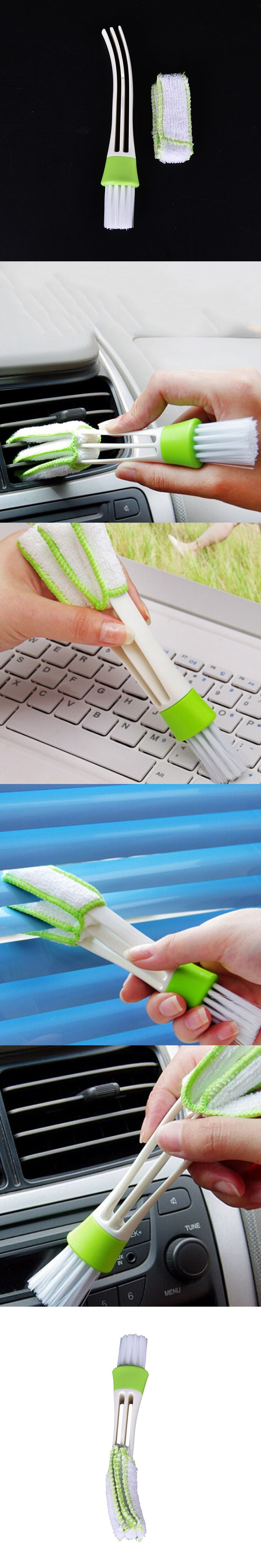 1Pcs Pocket Brush Keyboard Dust Collector Window Leaves Blinds Cleaner Duster Air-condition Cleaner Computer Clean Tools