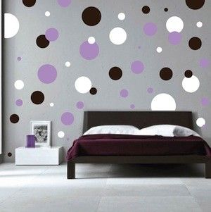 polka dots wall decals - Wall Designs For Girls Room