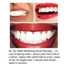 Hmmm...her teeth are too white and perfect, but I love Dr. Oz, so we'll see! Prior pinner: Cheap at home teeth whitening