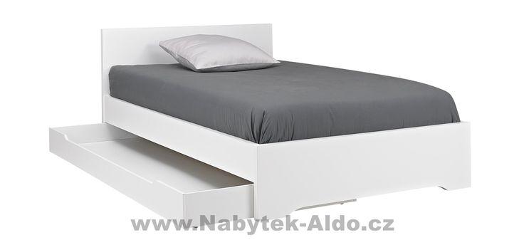 Studentská postel s přistýlkou bílá G55