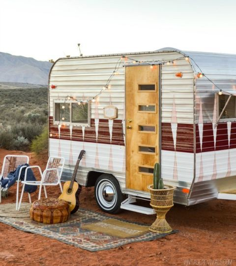 Best Camper Glampers Images On Pinterest Vintage Campers - Old shabby trailer gets one hell makeover