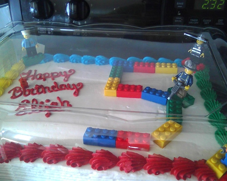 Eli S Lego City Birthday Cake Those Are Erasers Btw 2