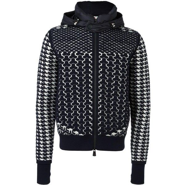 Moncler Grenoble thermal hoodie ($1,180) ❤ liked on Polyvore featuring men's fashion, men's clothing, men's hoodies, blue, mens blue hoodies, mens wool hoodies, mens hoodies and mens sweatshirts and hoodies
