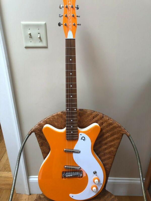 Danelectro 59m Nos Plus Electric Guitar Orange Electric Guitar Guitar Learn Guitar