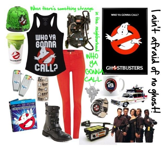 """--I ain't afraid of no ghost-- ghostbusters"" by kai-noel ❤ liked on Polyvore featuring J Brand, Equipment, Aéropostale, Casetify and Artistique"
