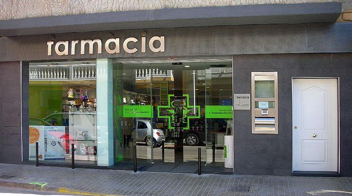 Resultado de imagen de farmacia fachadas moderna