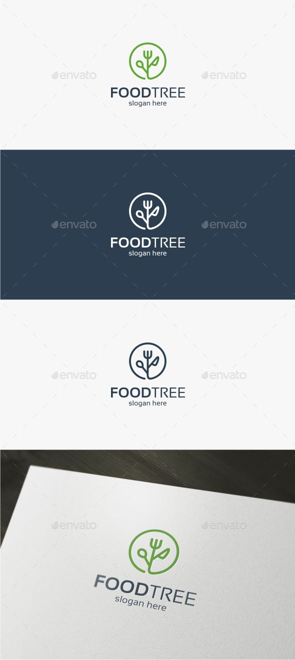Food Tree Logo — Vector EPS #health #kitchen • Available here → https://graphicriver.net/item/food-tree-logo/15835713?ref=pxcr