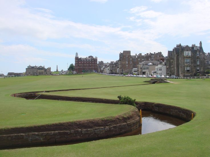 The Old Course, St. Andrew's, Scotland. St. Andrew's - the home of golf, where golf were 1st played 500 years ago!