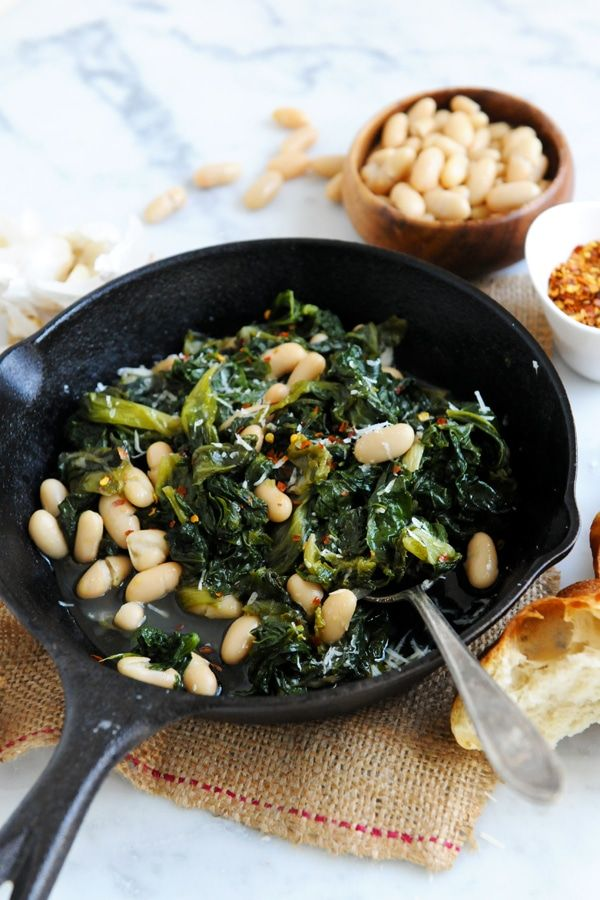"So simple & just what you need!  ""Italian Beans & Greens"""