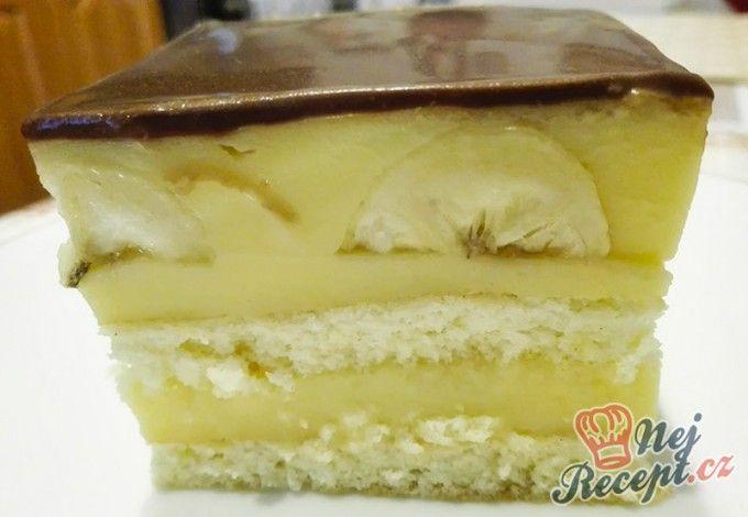 Vanilkové řezy s banány a čokoládou
