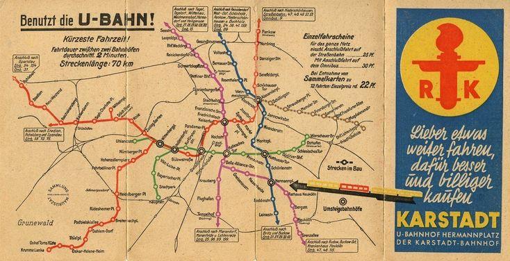 1930 Berliner U-Bahn Plan