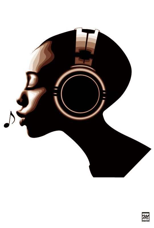 music african american soul headphones sound deviantart clip woman neo hair background illustration dj americans vibing calm keep silhouette head