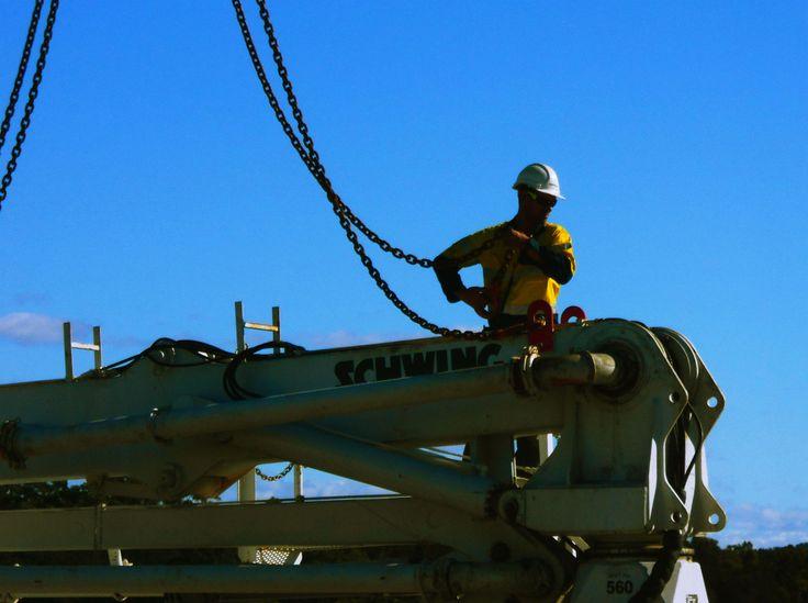 Building a new bridge, Stingray Creek, Laurieton NSW