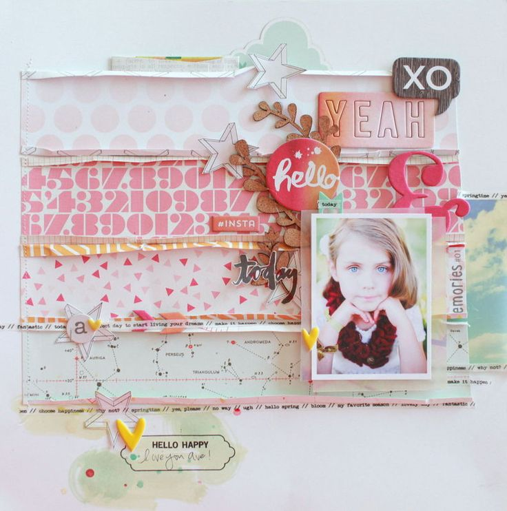 Hello Happy by dearlizzy at @Studio_Calico This was my favorite layout in the SC gallery this month. Liz does it again - perfection!