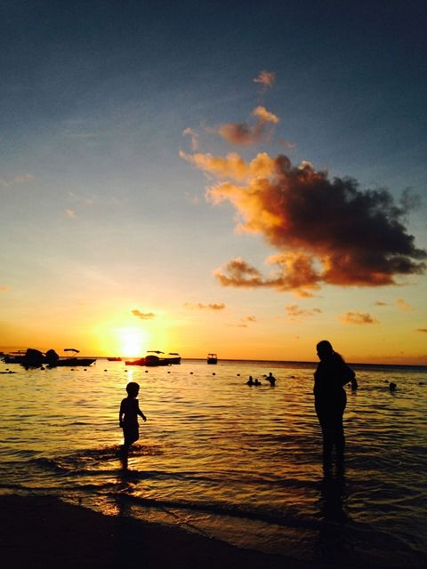 Sunset at Troux aux Biches in Mauritius