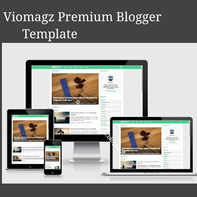 Viomagz Latest Premium Blogger Template 2018 Search Engine