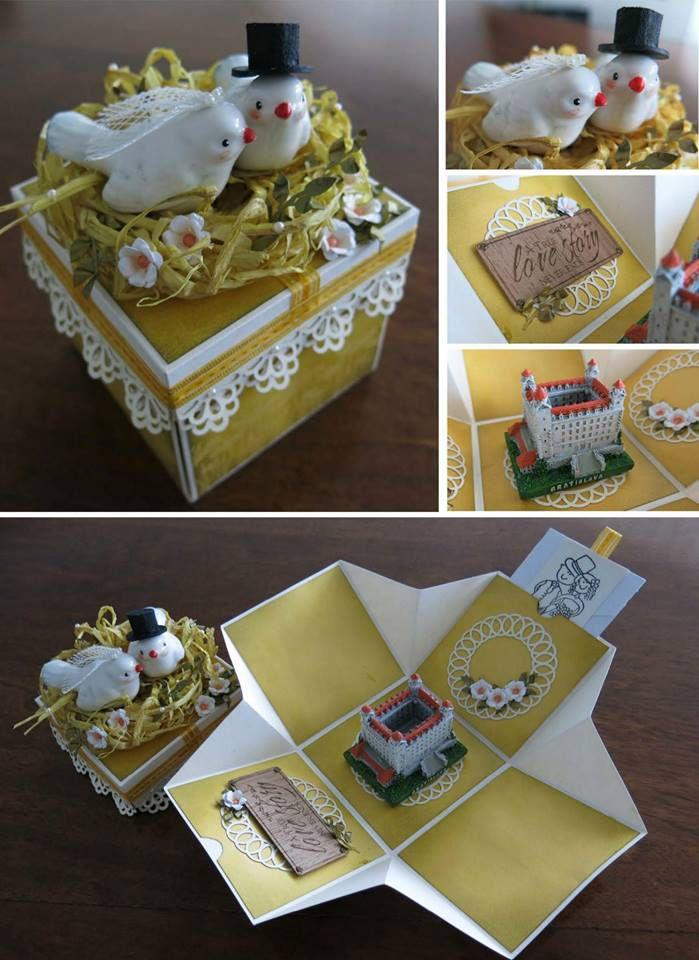 Wedding exploding box