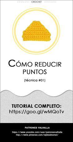 Cómo reducir puntos en crochet (técnica #01) | PATRONES VALHALLA // Patrones…