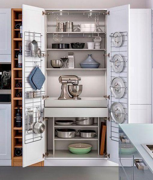 Armarios y sistemas de almacenaje para los cacharros de - Almacenaje de cocina ...