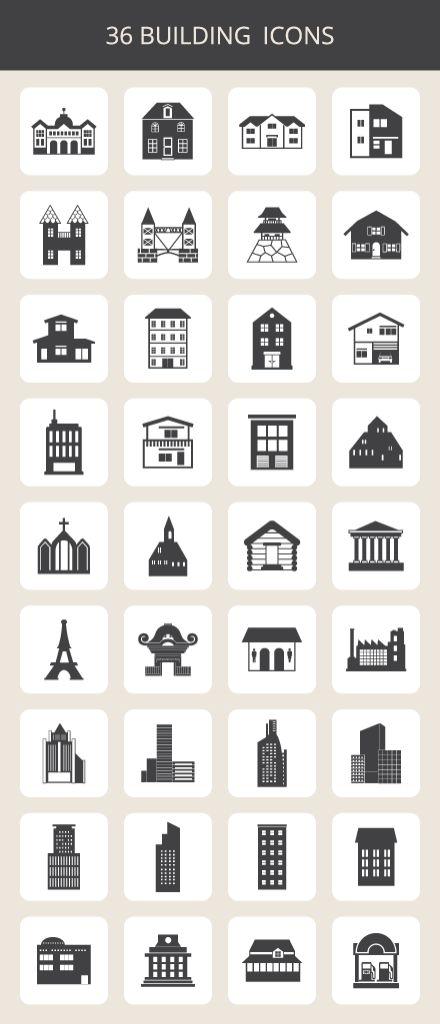 building-icon-set