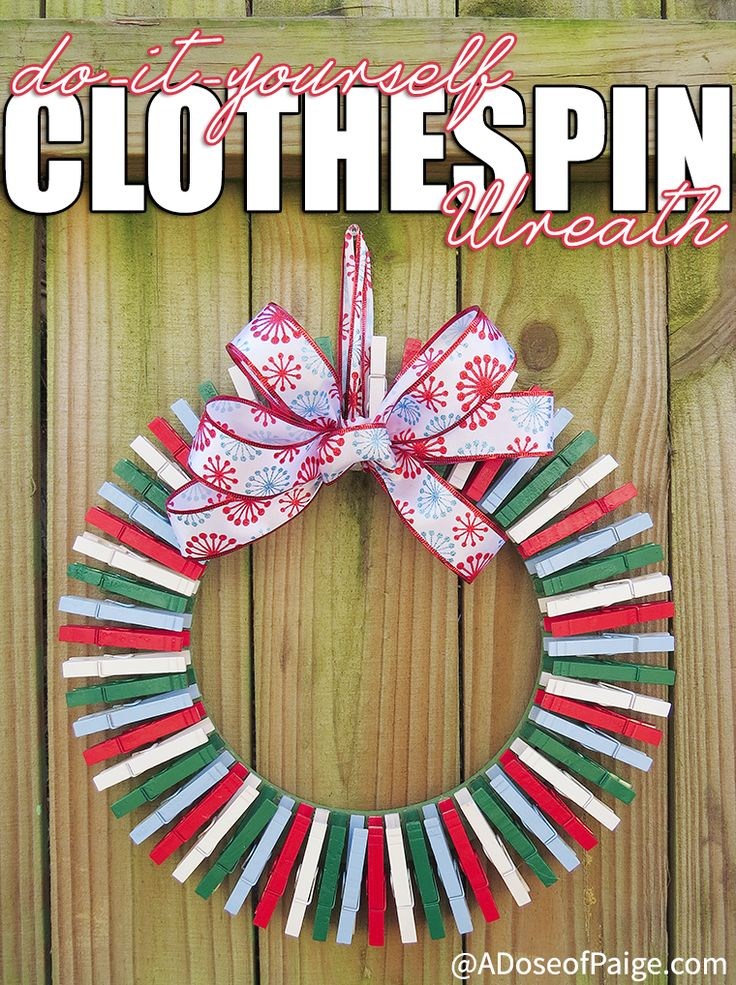Making a DIY clothespin wreath is fun and a great way to display the Christmas cards you receive this year! And it's super easy!