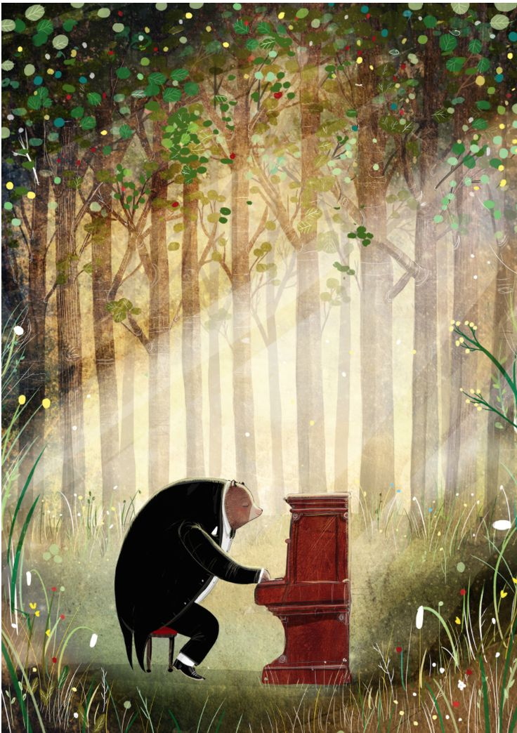 @dc_litchfield new picture book The Bear and The Piano @Frances_Lincoln @childbookart #bolognabookfair