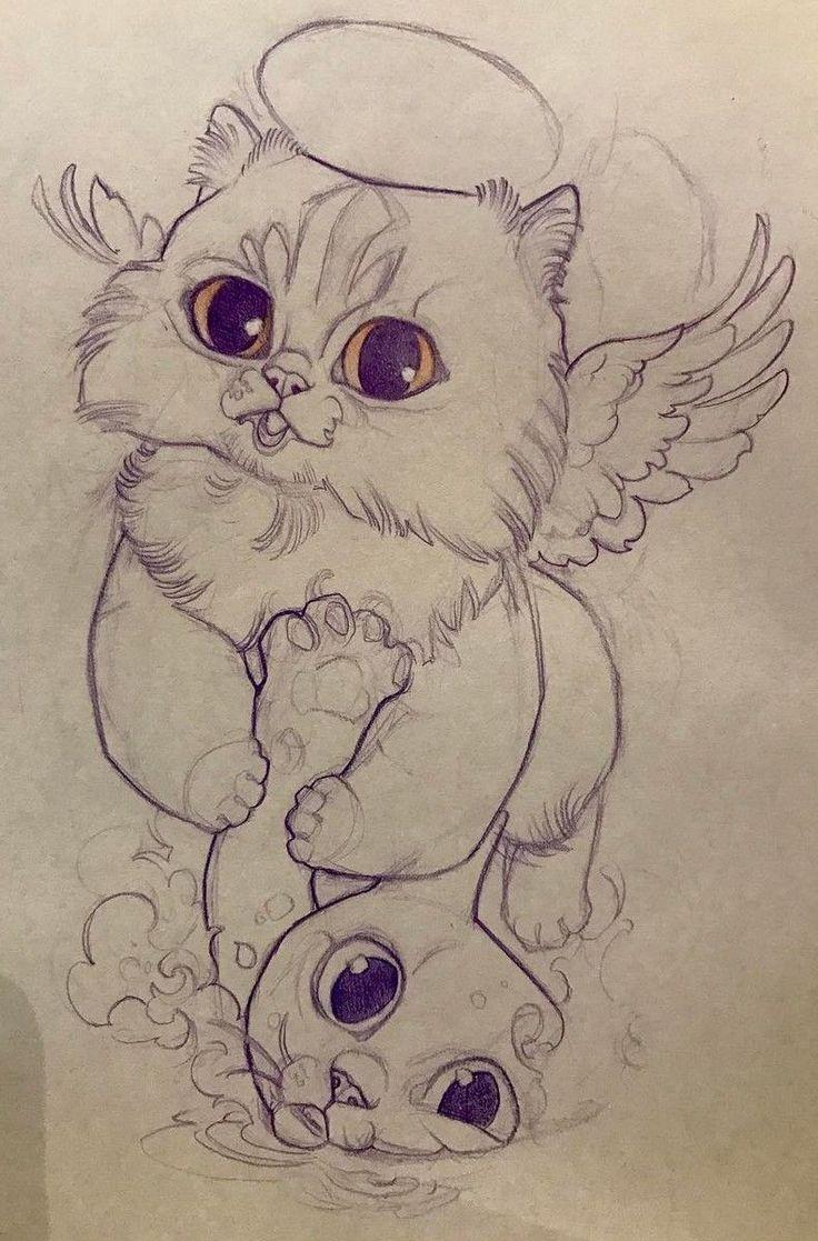 Cat tattoo design.