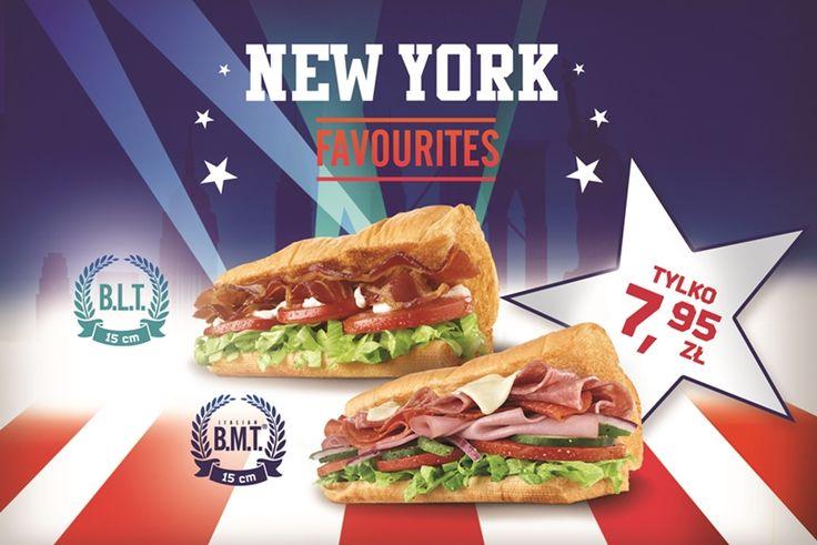 Co wspólnego mają sandwicze serwowane w restauracjach SUBWAY® z Nowym Jorkiem? W nowej promocji NEW YORK FAVOURITES główną rolę grają soczyście mięsne suby: Italian B.M.T.®, którego nazwa przywołuje jedną z najsłynniejszych tras metra Wielkiego Jabłka, i B.L.T.