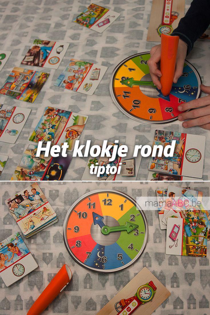 Klok leren lezen en begrijpen met tiptoi van Ravensburger. Speelgoed review. https://mamaabc.be/klok-leren-lezen-tiptoi/