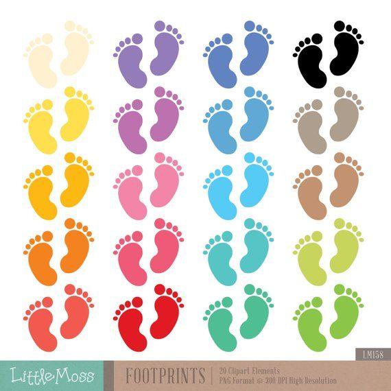 Footprints Digital Clipart Etsy Clip Art Digital Clip Art Valentines For Kids
