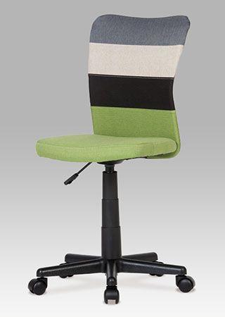KA-N837 GRN Kancelářská židle látková, barvy v přírodním tónu doplněné o akcent zelené barvy na opěráku a sedáku. Výškově nastavitelná. Nosnost 60 kg.