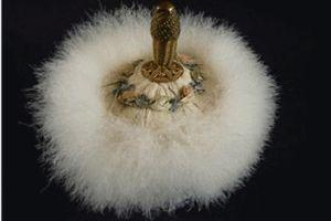 Antik Puderpuff - La Reine Inredningar