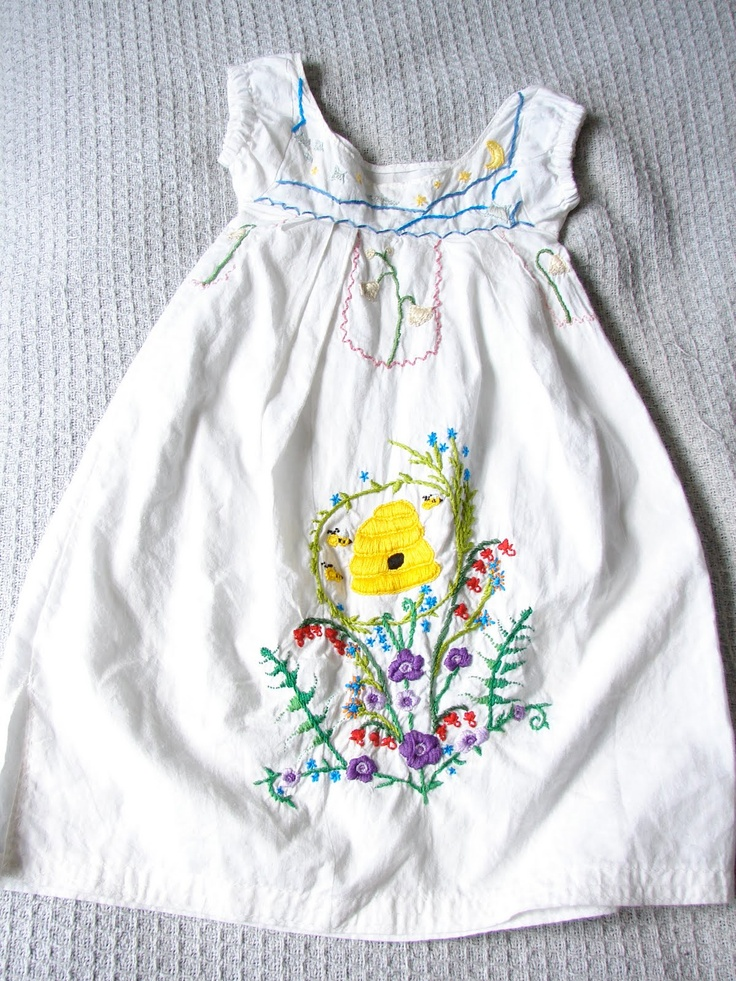 Dress I embroidered for my niece.