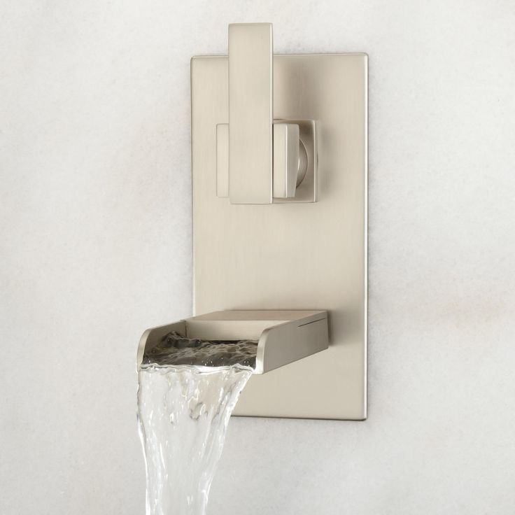 Awesome Willis Wall Mount Bathroom Waterfall Faucet Design Ideas