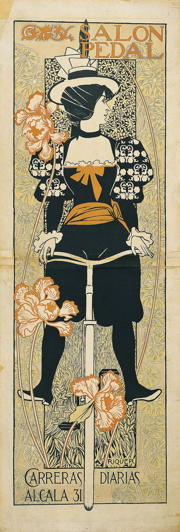 Salon Pedal. Colour lithograph on paper, 139.4 x 48.5 cm, 1897. Artist: Alexandre de Riquer