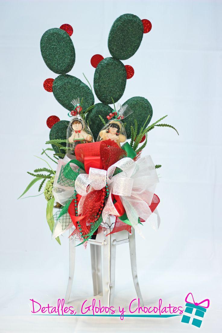 10 best centros de mesa muy mexicanos images on pinterest for Cactus de navidad