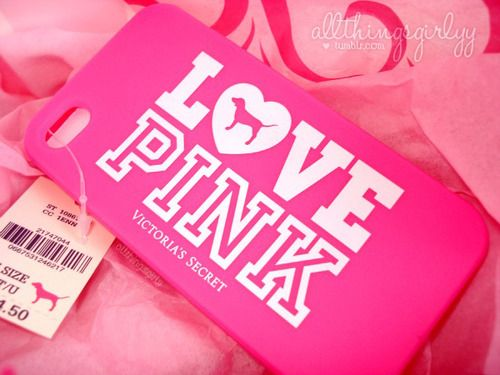 LOVE PINK Iphone case (: