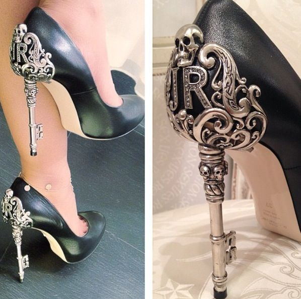 John Richmond skull key goth sculpted heels I should have bought these when I went to Capri Italy