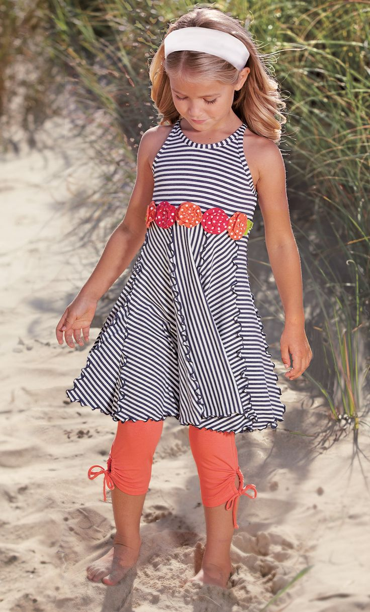 From CWDkids: Flowers & Stripe Dress