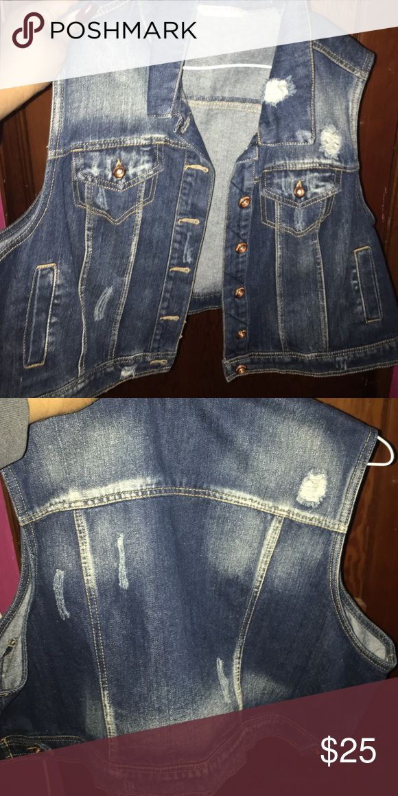Jean jacket Short sleeve jean jacket. Never worn because it's too big for me. Jackets & Coats Jean Jackets