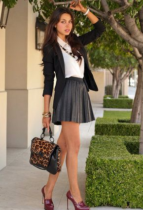 Zara  Blazers, Free People  Skirts and Pour La Victoire  Heels / Wedges