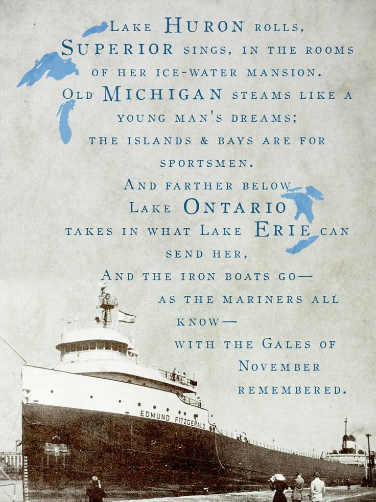Gordon Lightfoot - Canadian Singer, Songwriter writing about The Wreck of the Edmund Fitzgerald.